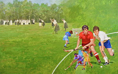 Painting - Field Hockey by Cliff Spohn