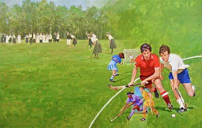 Painting - Field Hockey by Cliff Spohn
