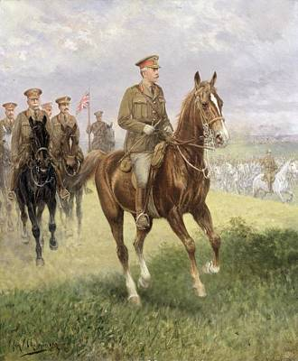 Field Marshal Haig Art Print by Jan van Chelminski