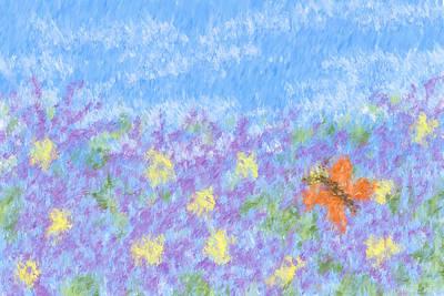 Field Of Asters - Impressionism Art Print