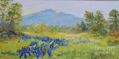 Mt. Monadnock Painting - Field Of Blue by Alicia Drakiotes