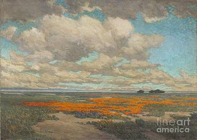 Redmond Painting - Field Of California Poppies by Pg Reproductions