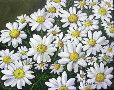 Art Print featuring the mixed media Field Of Daisies by Mary Kay Holladay