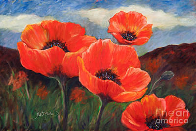 Painting - Field Of Poppies by Pati Pelz