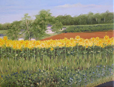 Painting - Field Of Sunflowers by Margie Perry