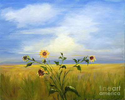 Painting - Field Of Sunflowers by Pati Pelz