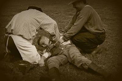 Photograph - Field Repair by David Dunham