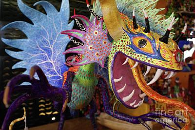 Photograph - Fierce Alebrije Dragon Mexico by John  Mitchell