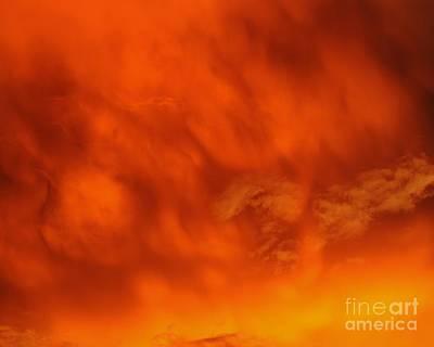 Fiery Clouds Art Print by Al Powell Photography USA