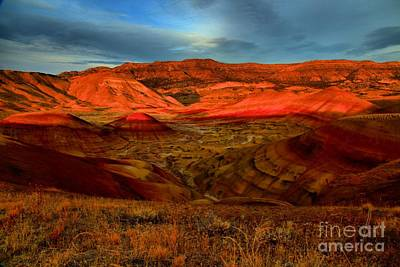 Photograph - Fiery Painted Hills by Adam Jewell