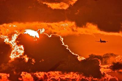 Art Print featuring the photograph Fiery Skies by Scott Holmes