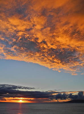 Photograph - Fiery Sky At Sunset In Maui by Kirsten Giving