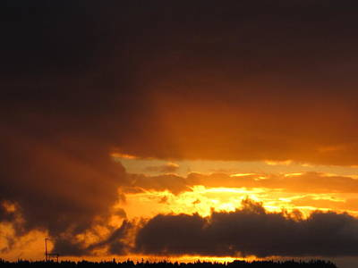 Photograph - Fiery Sky by Sandra  Rohmann