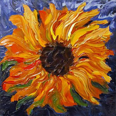 Fiery Sunflower Art Print