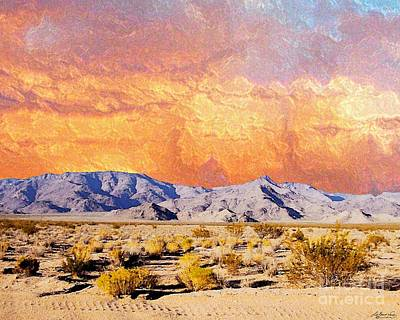 Digital Art - Fiery Western Sky Antarres Road Az by Lizi Beard-Ward