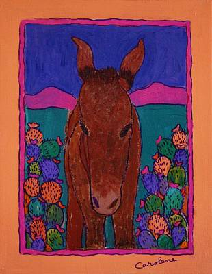 Painting - Fiesta Burro by Carolene Of Taos