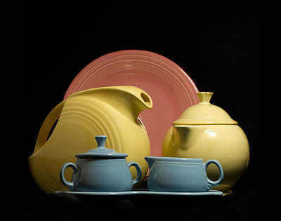 Fiestaware Photograph - Fiesta Fun 2 by Peter Chilelli