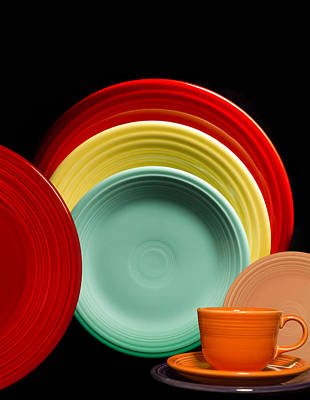 Fiestaware Photograph - Fiesta Fun by Peter Chilelli
