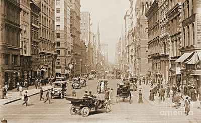 Ostrich Photograph - Fifth Avenue New York City 1907 by Padre Art