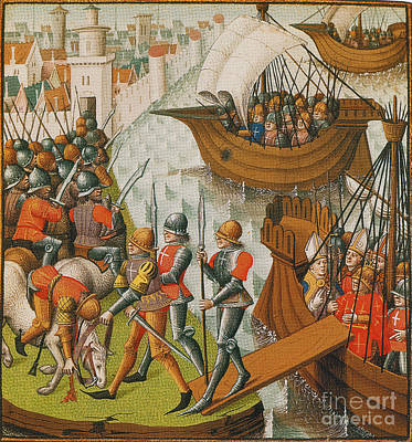 Fifth Crusade Siege Of Damietta 1218 Art Print by Photo Researchers