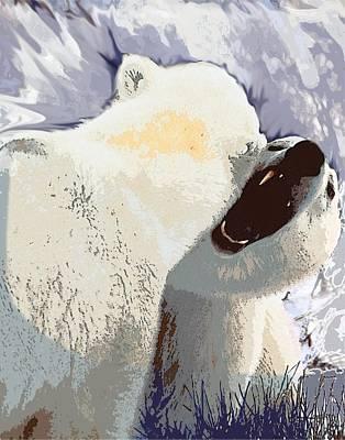 Fighting Bears Art Print