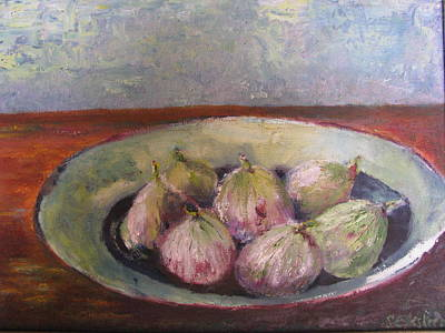 Figs In Summer Art Print by Sarie Eksteen