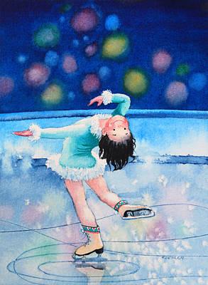 Figure Skater 16 Art Print by Hanne Lore Koehler
