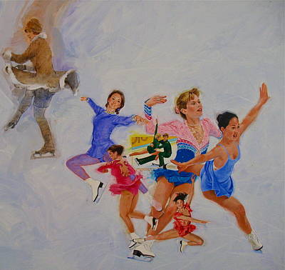 Painting - Figure Skating by Cliff Spohn
