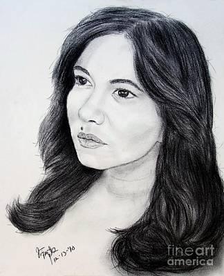 Beauty Mark Drawing - Filipina Beauty And Actress Lorna Tolentino by Jim Fitzpatrick