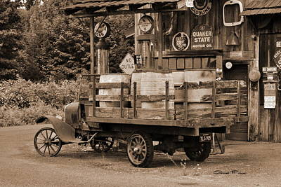 Photograph - Fill Er Up        Sepia by Ansel Price