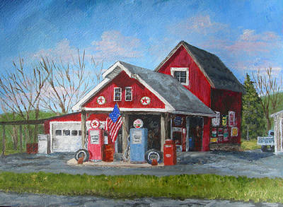 Painting - Fill 'er Up by Margie Perry