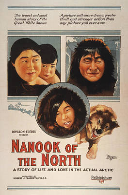 Nanook Photograph - Film: Nanook Of The North by Granger