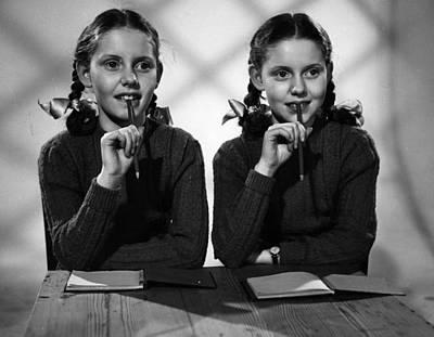 Film Star Twins Art Print by Maurice Ambler
