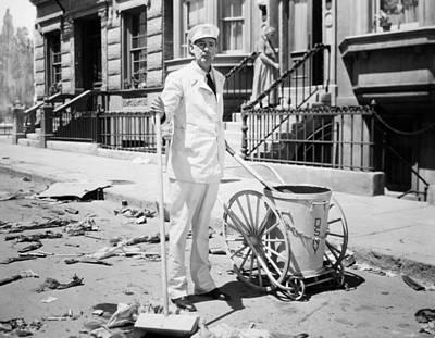 Photograph - Film Still: Street Cleaner by Granger
