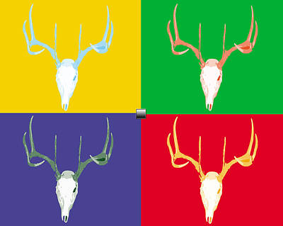 Filtered Deer Art Print by John Mathias