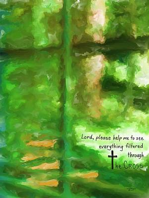 Painting - Filtered Through The Cross by Cindy Wright