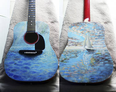 Painting - F.i.m. Guitar by Charlie Harris