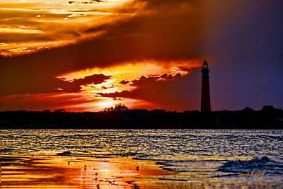 Final Sunset Ponce Lighthouse Art Print by Stephen  Johnson