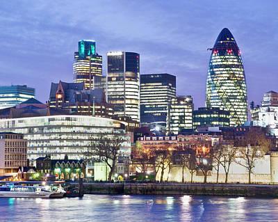 Financial City Skyline, London Art Print by John Harper