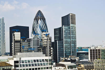 Financial Skyline Of London Print by John Harper
