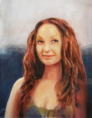 Art Print featuring the painting Fine Art Original Painting Jen Mona Lisa 2012 by G Linsenmayer