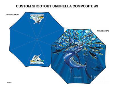 Nautical Digital Art - Fine Art Umbrellas by Carey Chen