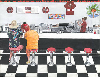 Art Print featuring the painting Fine Dinning by Stuart B Yaeger