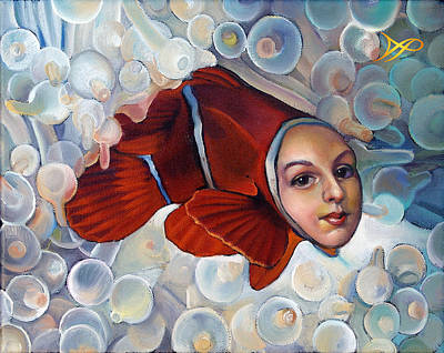 Clownfish Painting - Finding Finessa by Patrick Anthony Pierson