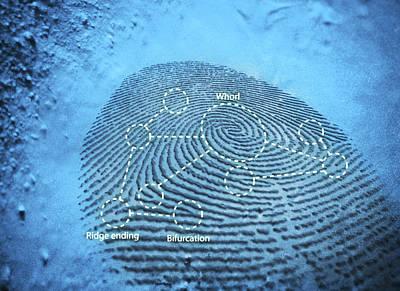 Fingerprint, Computer Artwork Art Print