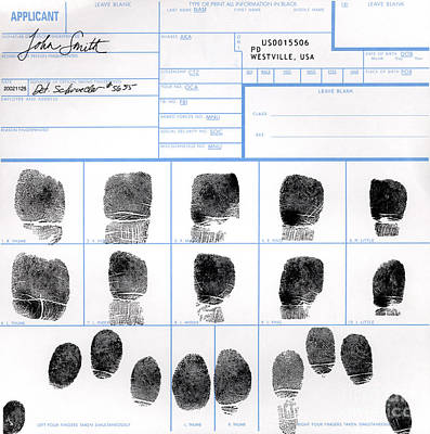 Fingerprint Identification Application Print by Science Source