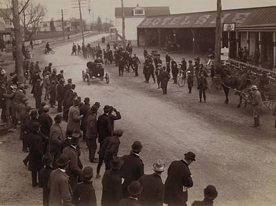 Observer Photograph - Finish Of Auto Race At Springfield L.i by Everett