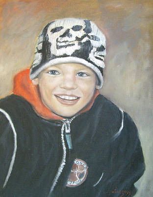 Painting - Finnish Boy Commission by Katalin Luczay