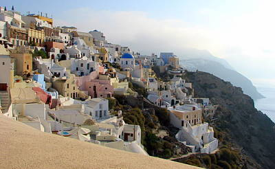 Photograph - Fira In Santorini by Carla Parris