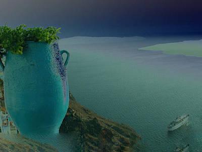 Fira View Santorini Greece Print by Colette V Hera  Guggenheim